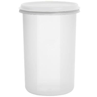 Uzglabāšanas trauks balts Margerit, Plast team, 2 L
