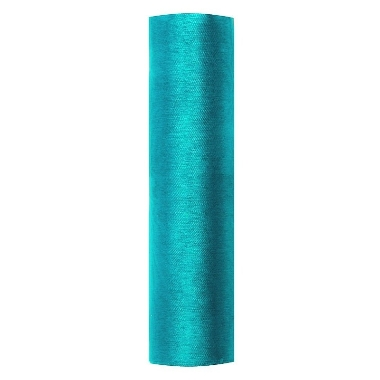 Organza audums tirkīza PartyDeco, 16 cm