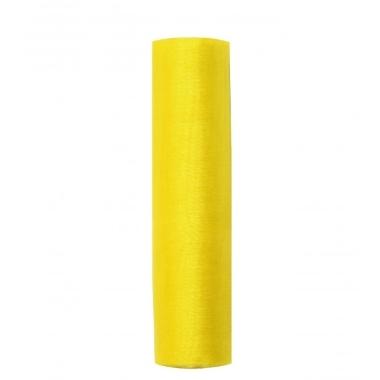 Organza audums dzeltens PartyDeco, 16 cm
