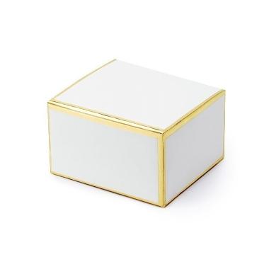 Dāvanu kastīte balta, 10 gab.