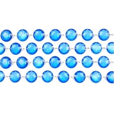 Kristāla virtene zila PartyDeco, 1 m