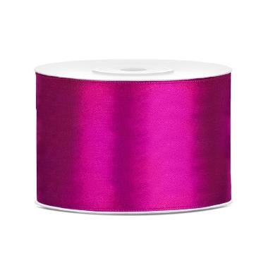 Atlasa lenta tumši rozā PartyDeco, 50mmx25m