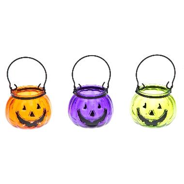 Laterna stikla maza Halloween