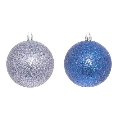 Egļu bumbas zilas 8cm, 4 gab.