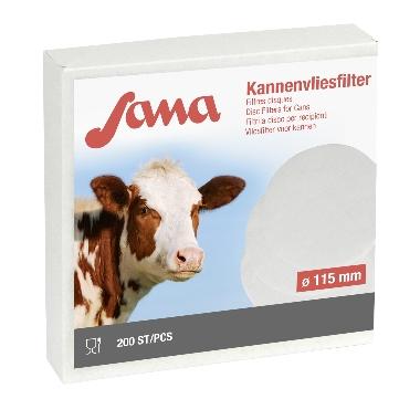 Piena filtri apaļie Sana 115mm, 200 gab.
