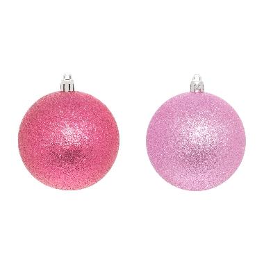 Egļu bumbas rozā 8cm, 4 gab.