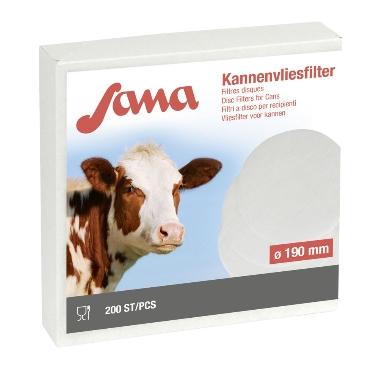 Piena filtri apaļie Sana 190mm, 200 gab.
