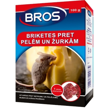 Briketes pret pelēm un žurkām Bros, 100 g
