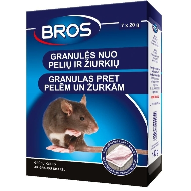Graudi pret pelēm un žurkām Bros, 140 g