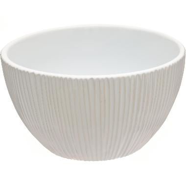 Dekoratīvs trauks balts Fannik, 20,5 cm