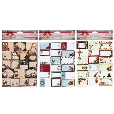 Ziemassvētku kartītes Winteria, 36 gab.