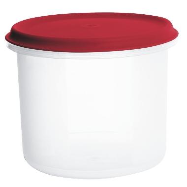 Uzglabāšanas trauks sarkans Margerit, Plast team, 1 L