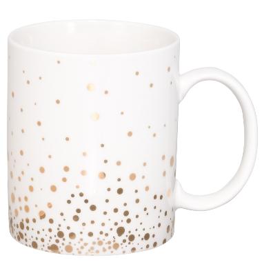 Krūzīte ar zelta punktiņiem, 330 ml
