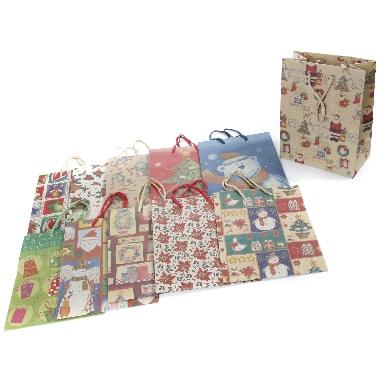 Dāvanu maisiņš Ziemassvētku, 18 x 23 cm, 1 gab.