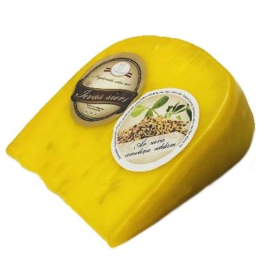 Ievas siers vaskā ar siera amoliņa sēklām, 250 g