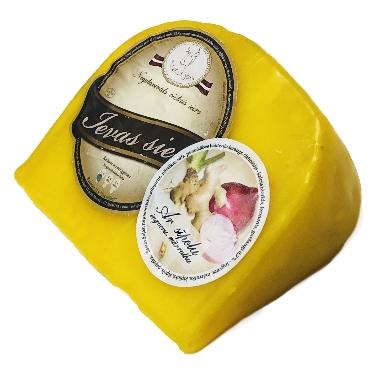 Ievas siers vaskā ar sīpolu, ingveru, mārrutku, 250 g