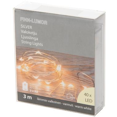 Lokana spuldzīšu virtene, 40 LED