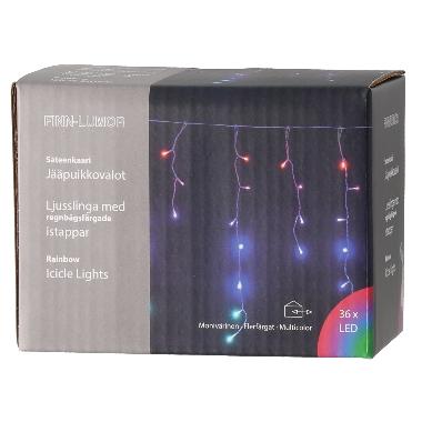 Spuldzīšu virtene Lietus krāsains, 36 LED