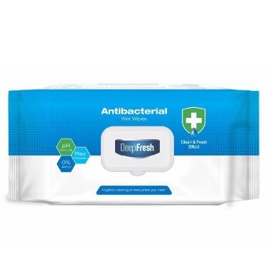 Mitrās salvetes DeepFresh, antibakteriālas, 100 gab.
