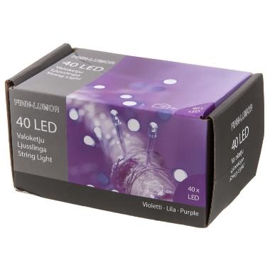 Spuldzīšu virtene Finnlumor violeta, 40 LED