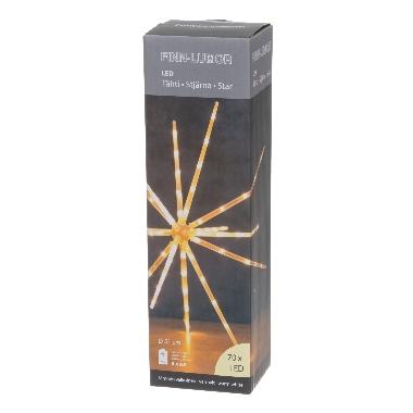 Dekors zvaigzne balta Finnlumor, 70 LED