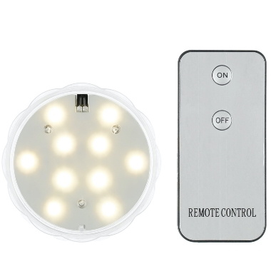Ūdensizturīga LED gaisma, ar pulti