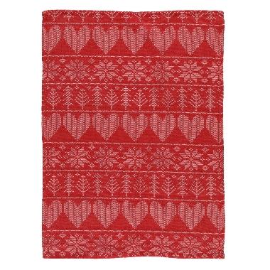Virtuves dvielis sarkans Winteria, 50x70 cm