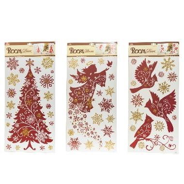 Istabas dekors sarkanas Ziemassvētku uzlīmes, 1 gab.