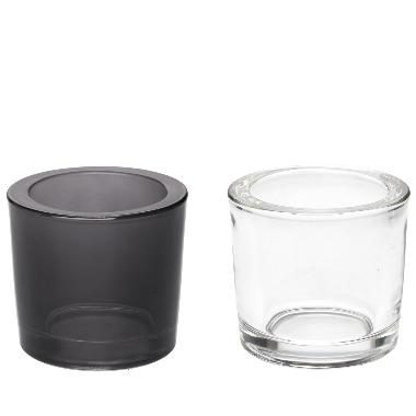 Svečturis stikla klasisks, 6,5x6 cm, 1 gab.