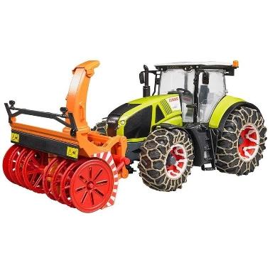 Rotaļu traktors Claas Axion 950 ar sniega šķūri, Bruder