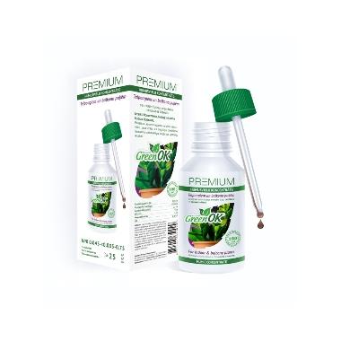Telpaugiem un balkona puķēm humusvielu koncentrāts Green OK, 120 ml