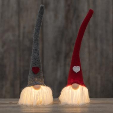 Rūķi Gnome ar LED gaismu, 33 cm, 1 gab.