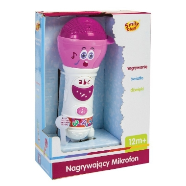 Spēļu mikrofons rozā, Smily Play