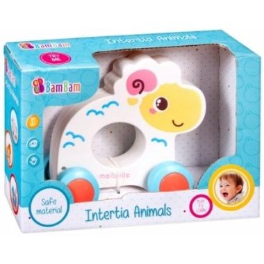 Rotaļlieta bērniem aitiņa uz riteņiem, Bam Bam