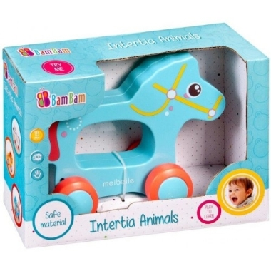 Rotaļlieta bērniem zirdziņš uz riteņiem, Bam Bam