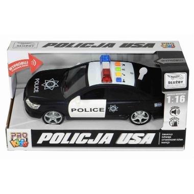 Policijas auto ar gaismām