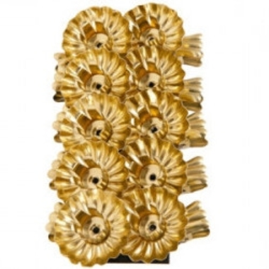 Svečturu komplekts eglīšu svecēm, zelta, Ø 4 cm, 10 gab.