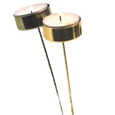 Svečturu komplekts tējas svecēm, zelta, 4x20cm, 10 gab.