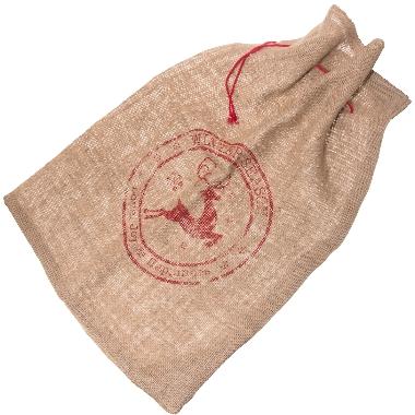 Dāvanu maiss džutas WinterSeason, 65x95 cm
