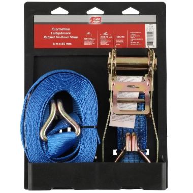 Kravu nostiprināšanas siksna Carman zila, 6m x 50mm, 4000 kg