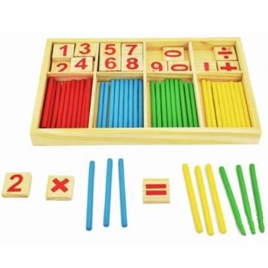 Koka rotaļlieta matemātikas apgūšanai