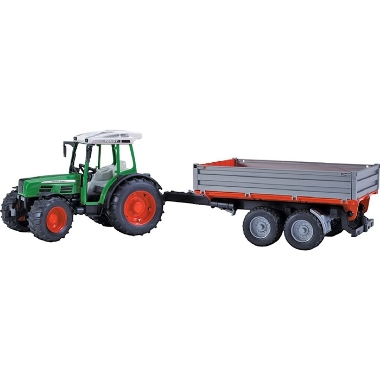 Rotaļu traktors Fend ar piekabi, Bruder