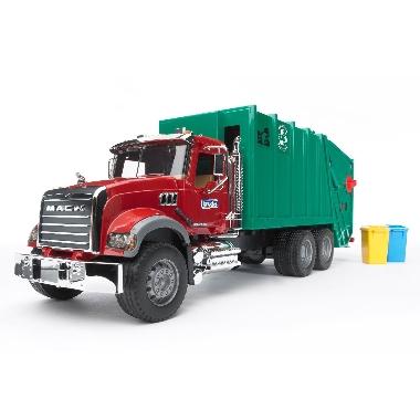 Rotaļu atkritumu mašīna Mack, Bruder
