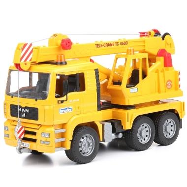 Rotaļu kravas auto MAN TGA ar celtni, Bruder