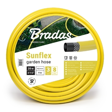 Šļūtene dzeltena Sunflex 1/2' Bradas, 20 m