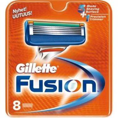 Skuvekļa kasetes Gillette Fusion, 8 gab.