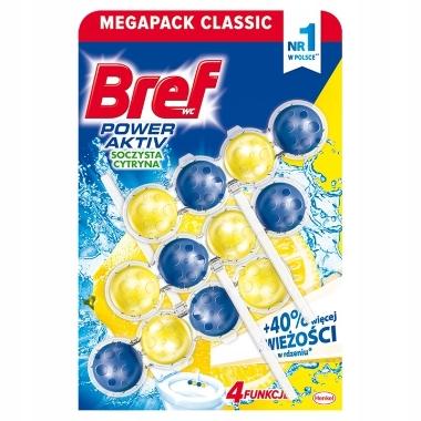 Tualetes bloki Bref power aktiv Lemon, 3x50 g