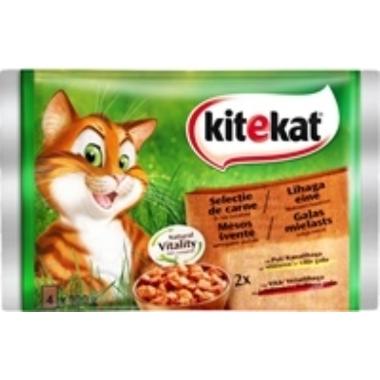 Kaķu barība ar gaļu Kitekat, 4 gab.