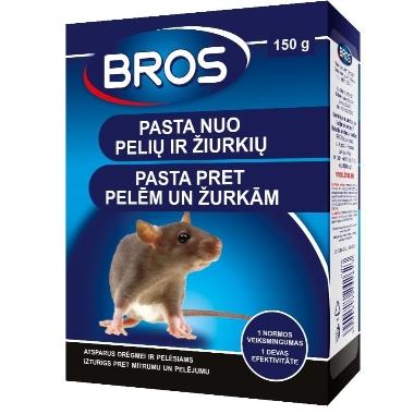 Pasta pret pelēm, žurkām Bros, 150 gr