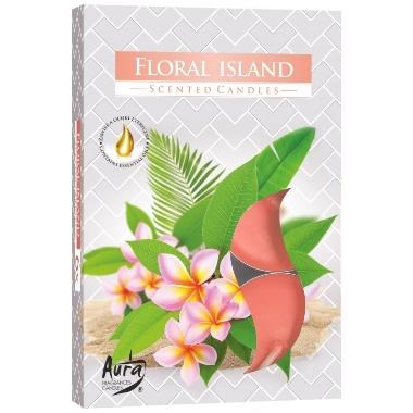 Aromātiskās sveces Floral island, 6 gab.